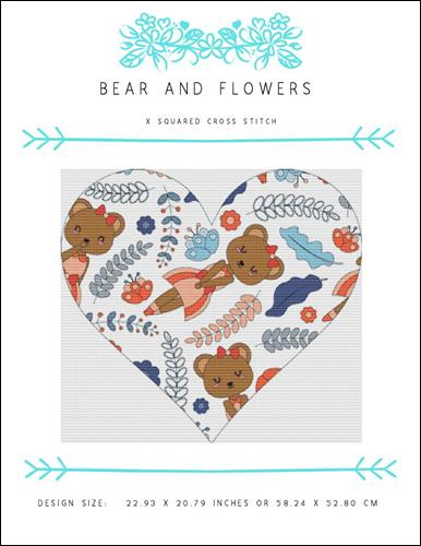 click here to view larger image of Bear and Flowers (chart)