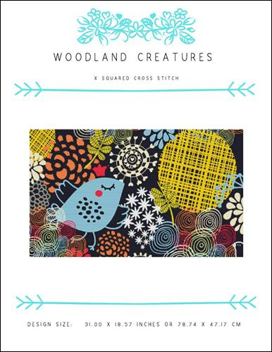 click here to view larger image of Woodland Creatures (chart)