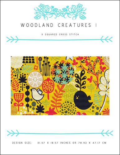 click here to view larger image of Woodland Creatures I (chart)