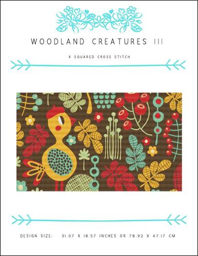 click here to view larger image of Woodland Creatures III (chart)