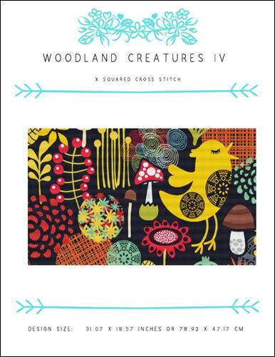 click here to view larger image of Woodland Creatures IV (chart)