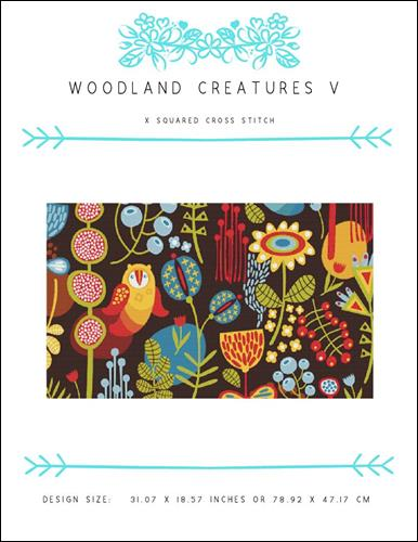 click here to view larger image of Woodland Creatures V (chart)