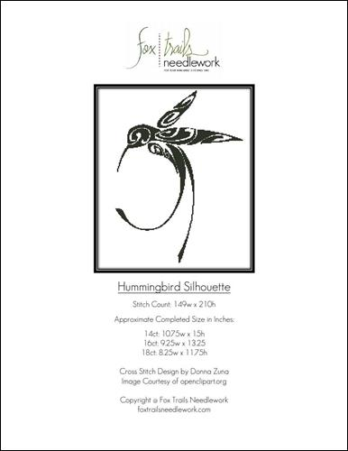 click here to view larger image of Hummingbird Silhouette (chart)