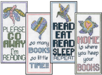 click here to view larger image of Folk Art Bookmarks (chart)