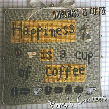 click here to view larger image of Happiness is Coffee (chart)