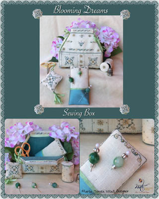 click here to view larger image of Blooming Dreams Sewing Box (chart)