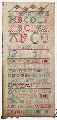click here to view larger image of Antique Family Sampler 1839 (chart)