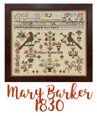 click here to view larger image of Mary Barker 1830 (chart)