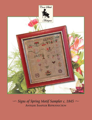 click here to view larger image of Signs Of Spring Motif Sampler Circa 1845 (chart)