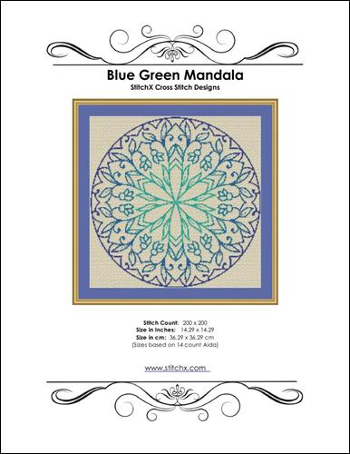 click here to view larger image of Blue Green Mandala (chart)