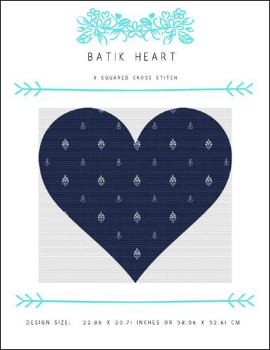 click here to view larger image of Batik Heart (chart)