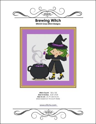 click here to view larger image of Brewing Witch  (chart)
