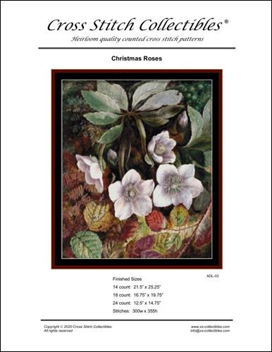 click here to view larger image of Christmas Roses - Large (chart)
