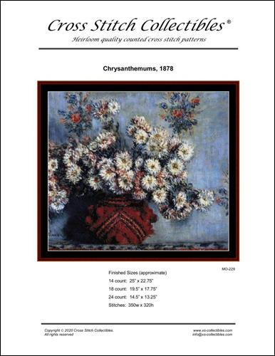 click here to view larger image of Chrysanthemums 1878 (chart)