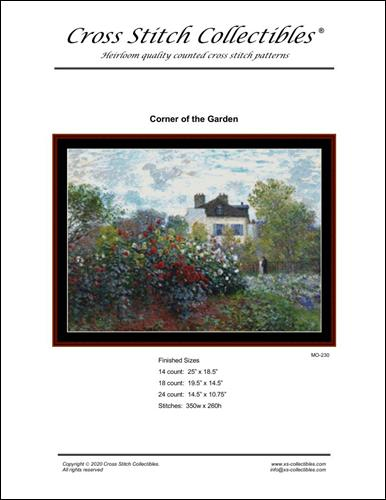 click here to view larger image of Corner of the Garden - Monet (chart)