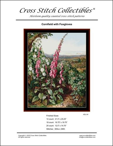 click here to view larger image of Cornfield with Foxgloves (chart)