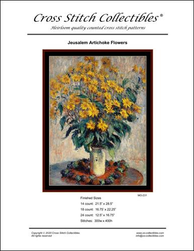 click here to view larger image of Jerusalem Artichoke Flowers (chart)