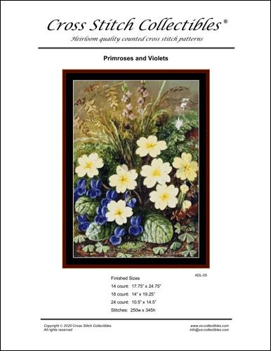 click here to view larger image of Primroses and Violets (chart)