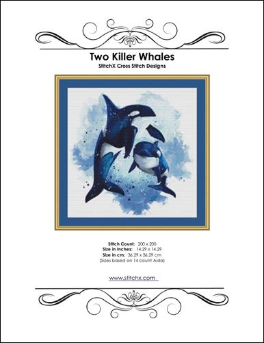 click here to view larger image of Two Killer Whales (chart)