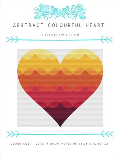 click here to view larger image of Abstract Colourful Heart (chart)