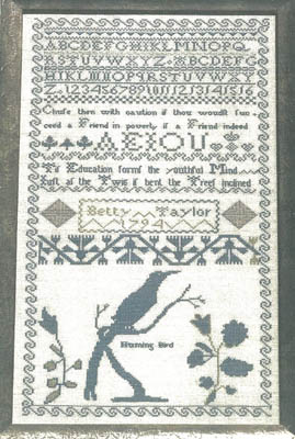 click here to view larger image of Betty Taylors 1794 Sampler Reproduction (chart)