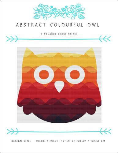 click here to view larger image of Abstract Colourful Owl (chart)