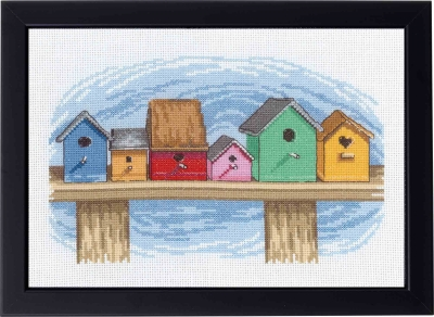 click here to view larger image of Birdhouses (counted cross stitch kit)