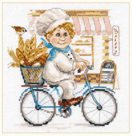 click here to view larger image of Baker (counted cross stitch kit)
