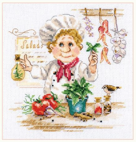 click here to view larger image of Chef (counted cross stitch kit)