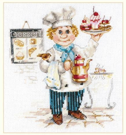 click here to view larger image of Pastry Chef (counted cross stitch kit)