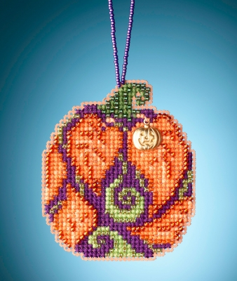 click here to view larger image of Autumn Pumpkin (counted cross stitch kit)