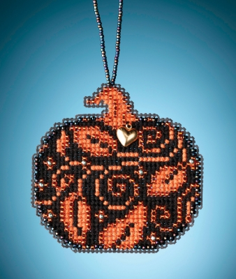 click here to view larger image of Glowing Pumpkin (counted cross stitch kit)