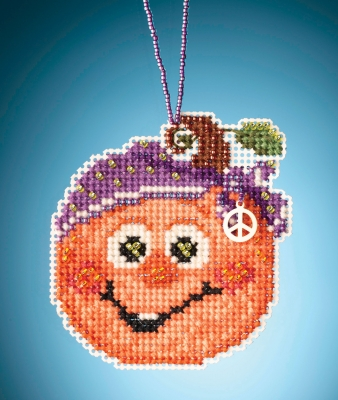 click here to view larger image of Hippie Pumpkin (counted cross stitch kit)