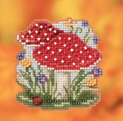click here to view larger image of Red Cap Mushroom (2020) (counted cross stitch kit)