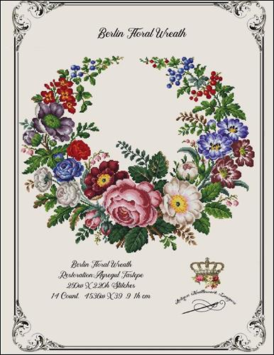 click here to view larger image of Berlin Floral Wreath (chart)