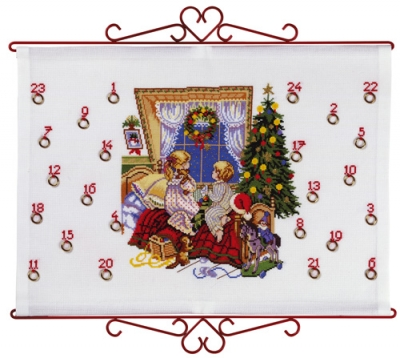 click here to view larger image of Children Advent Calendar Bellpull (counted cross stitch kit)