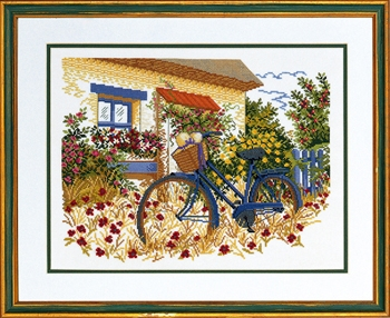 click here to view larger image of Blue Bike (counted cross stitch kit)