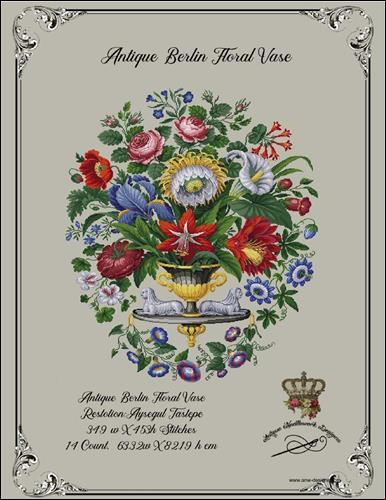 click here to view larger image of Antique Berlin Floral Vase (chart)