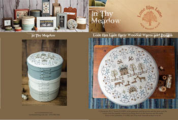 click here to view larger image of In My Meadow (chart with charms/buttons)