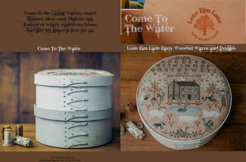 click here to view larger image of Come To The Water (chart with charms/buttons)
