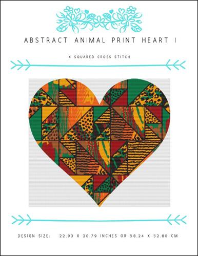 click here to view larger image of Abstract Animal Print Heart I (chart)