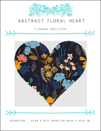 click here to view larger image of Abstract Floral Heart (chart)