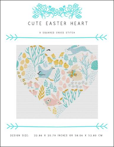 click here to view larger image of Cute Easter Heart (chart)
