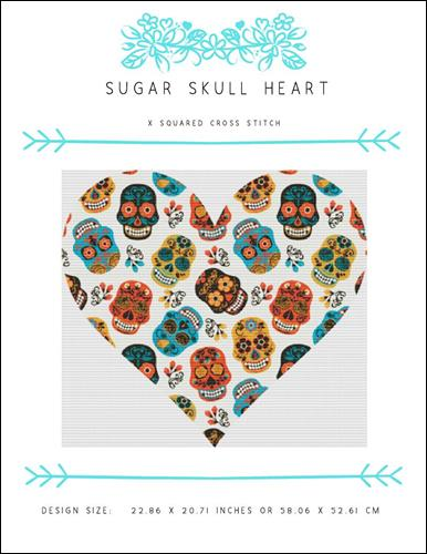 click here to view larger image of Sugar Skull Heart (chart)
