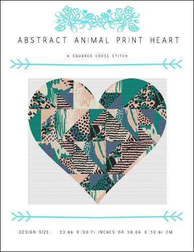 click here to view larger image of Abstract Animal Print Heart (chart)