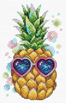 click here to view larger image of Sunny Pineapple (counted cross stitch kit)