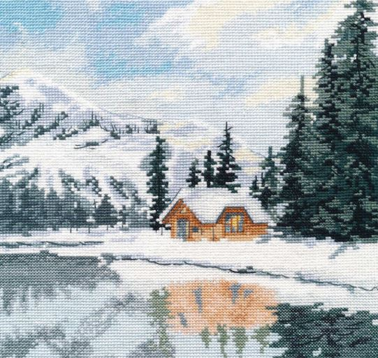 click here to view larger image of Lake Louise (counted cross stitch kit)