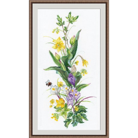 click here to view larger image of Brave Bumblebee (counted cross stitch kit)