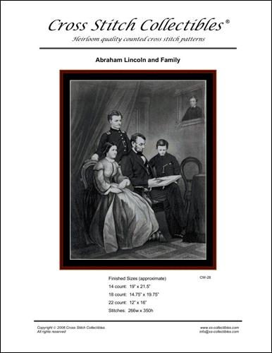 click here to view larger image of Abraham Lincoln and Family (chart)