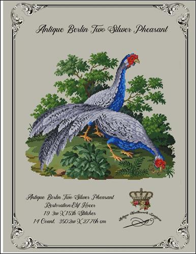click here to view larger image of Antique Berlin Two Silver Pheasants (chart)